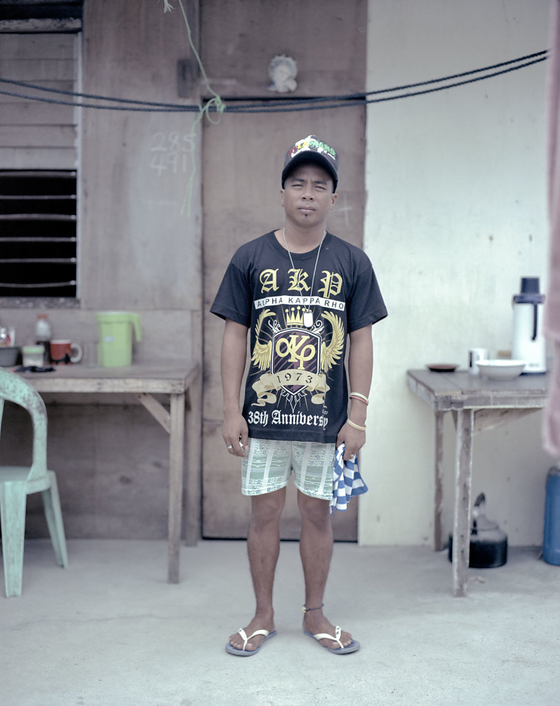 Nash 21. Living with his father.  Works parttime in a diveshop. After the storm, Nash's sister took work in Manila, so she can provide the family with money.